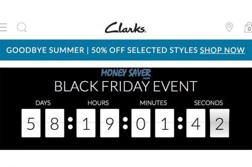 Almuerzo Describir suelo  Clarks Confirm Black Friday Sale for 2018 – Dansway Gifts UK