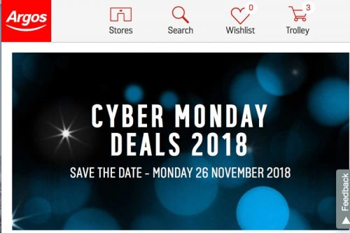 45d98bbbb93 You can see these on the Argos Cyber Monday page under heading 'upcoming  offers', also we find the words being used interesting, as the retailer has  made it ...