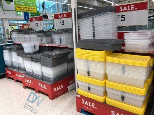 Plastic Storage Boxes On Sale At ASDA